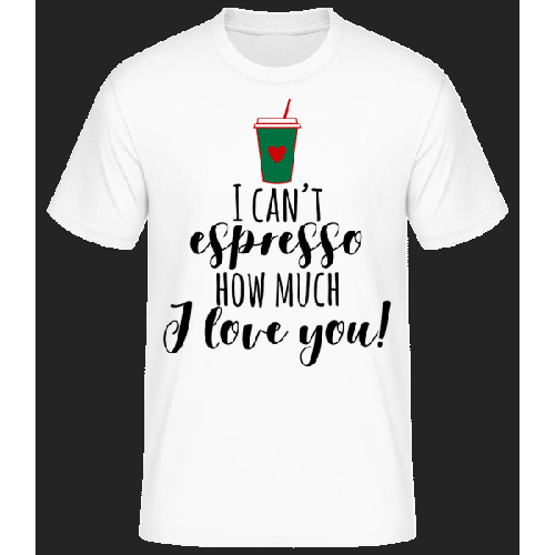 I Can't Espresso - Männer Basic T-Shirt