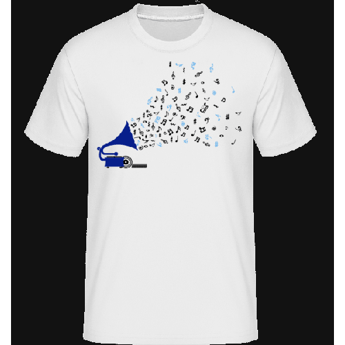 Musiknoten Grammofon - Shirtinator Männer T-Shirt