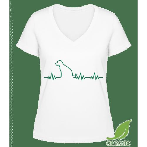 Herzschlag Hund - Janet Bio T-Shirt V-Ausschnitt