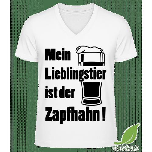 Lieblingstier Zapfhahn - Männer Bio V-Neck T-Shirt
