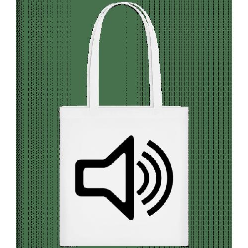 Lautsprecher Symbol - Stoffbeutel