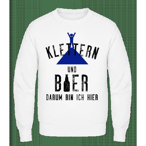 Klettern Und Bier - Männer Pullover