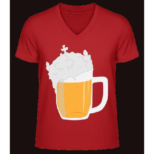 Bier - Männer Bio T-Shirt V-Ausschnitt