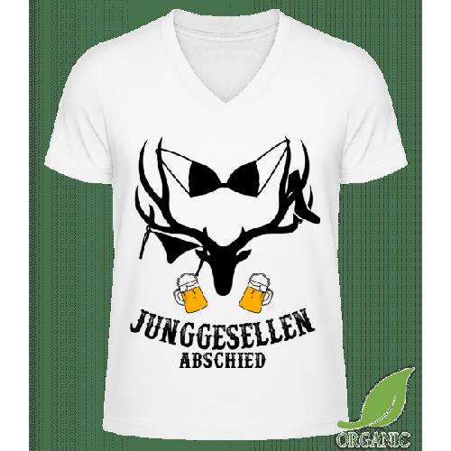 Junggesellenabschied BH-Hirsch - Männer Bio V-Neck T-Shirt