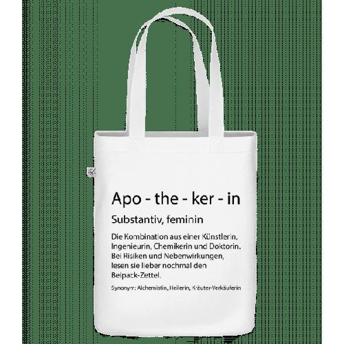 Apothekerin Quatsch Duden - Bio Tasche