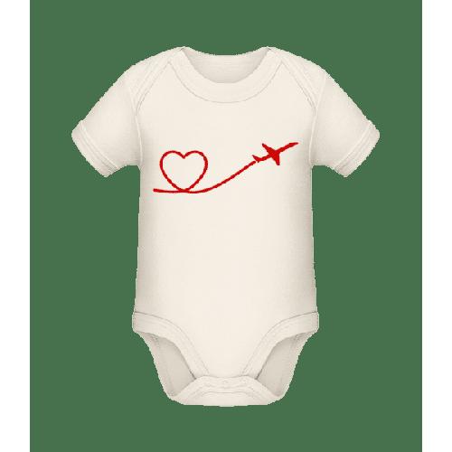 Herz Flieger - Baby Bio Strampler