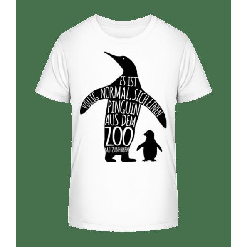 Pinguin Zum Mitnehmen - Kinder Premium Bio T-Shirt