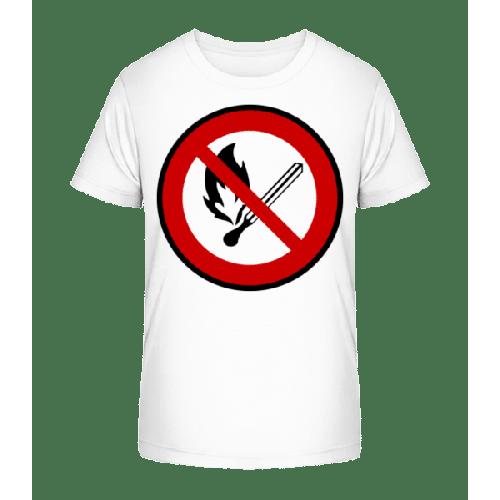Feuer Verboten - Kinder Premium Bio T-Shirt