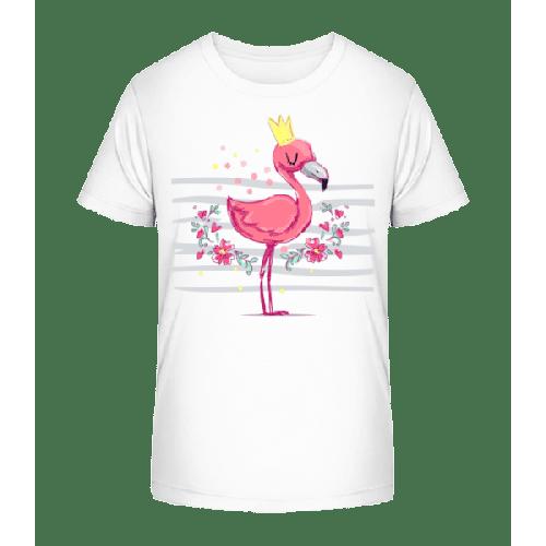 Königlicher Flamingo - Kinder Premium Bio T-Shirt