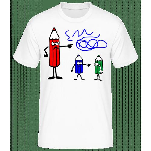 Buntstifte Blau Ist Schuld - Männer Basic T-Shirt