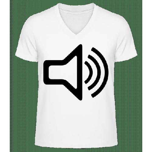 Lautsprecher Symbol - Männer Bio T-Shirt V-Ausschnitt