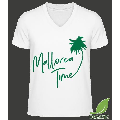 Mallorca Time - Männer Bio V-Neck T-Shirt