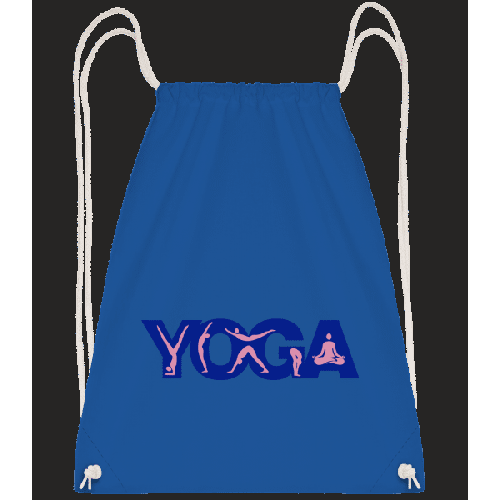 Yoga Sign Blue - Turnbeutel