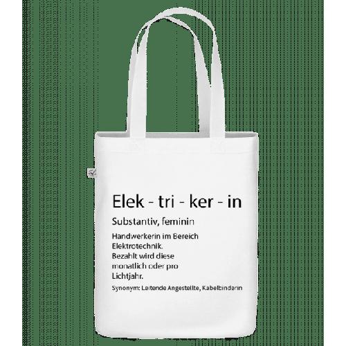 Elektrikerin Quatsch Duden - Bio Tasche