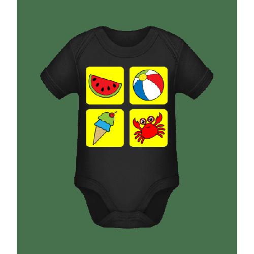 Kinder Sommer Bunt - Baby Bio Strampler
