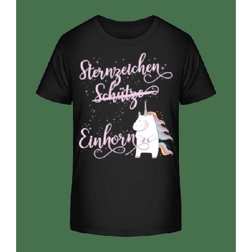 Sternzeichen Einhorn Schütze - Kinder Premium Bio T-Shirt