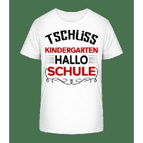 Hallo Schule - Kinder Premium Bio T-Shirt
