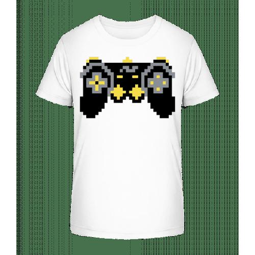 Konsolen Controller Oldschool Pixel - Kinder Premium Bio T-Shirt