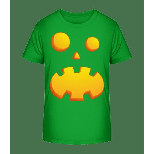 Kürbisgesicht Erstaunt - Kinder Premium Bio T-Shirt