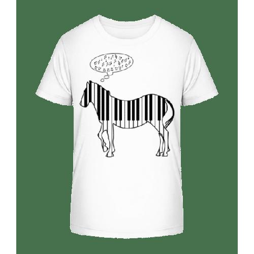 Klavier Zebra - Kinder Premium Bio T-Shirt