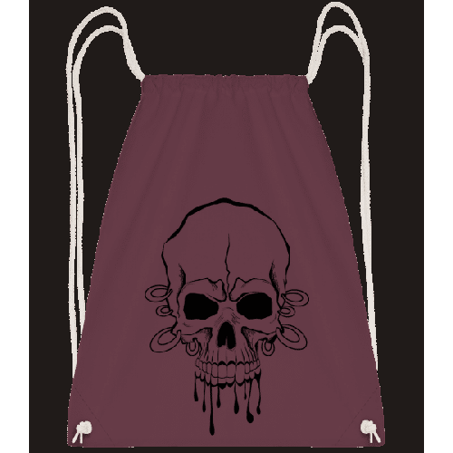 Totenschädel Mit Ringen Tattoo - Turnbeutel