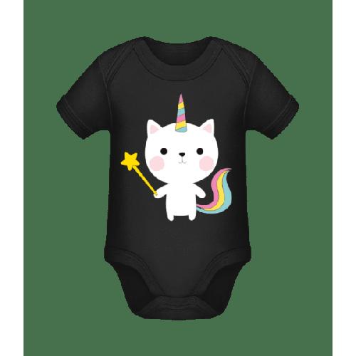 Zaubernde Einhorn Katze - Baby Bio Strampler