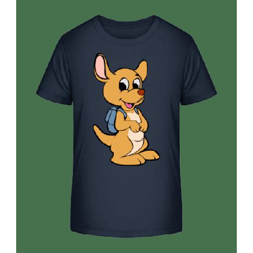 Süßes Känguru Mit Rucksack - Kinder Premium Bio T-Shirt