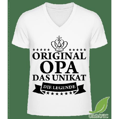 Opa Das Unikat Die Legende - Männer Bio V-Neck T-Shirt