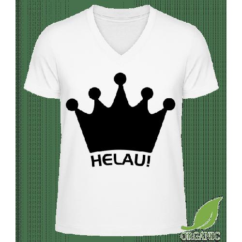 Karneval Helau - Männer Bio V-Neck T-Shirt