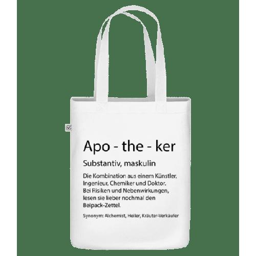 Apotheker Quatsch Duden - Bio Tasche