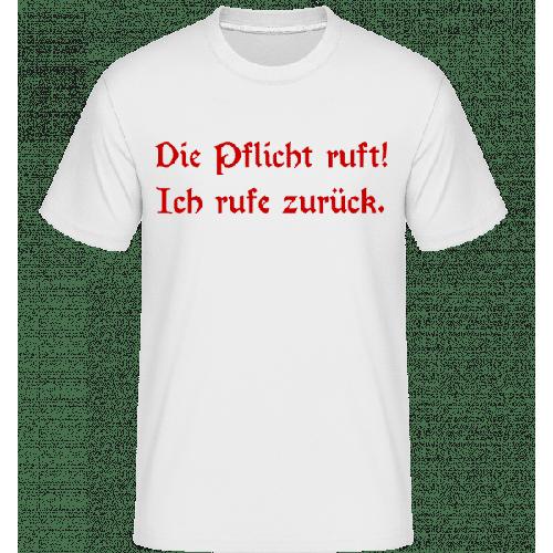 Pflicht Zurückrufen - Shirtinator Männer T-Shirt