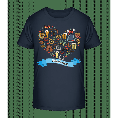 Oktoberfest Herz - Kinder Premium Bio T-Shirt