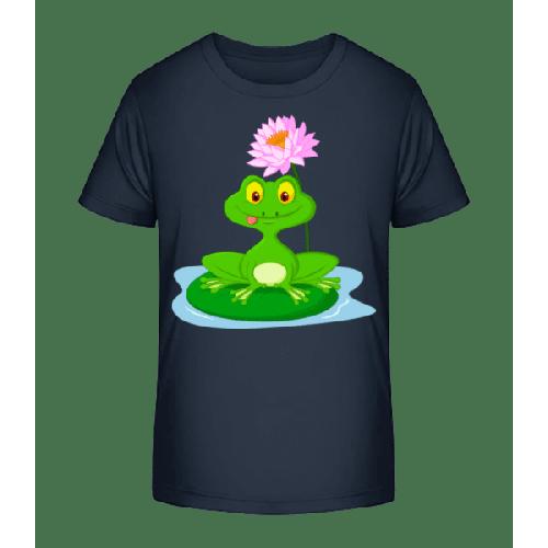 Grinsender Frosch - Kinder Premium Bio T-Shirt