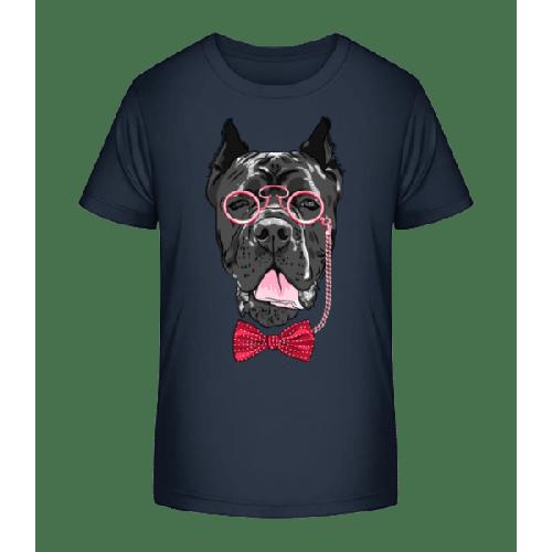 Hund Mit Brille - Kinder Premium Bio T-Shirt