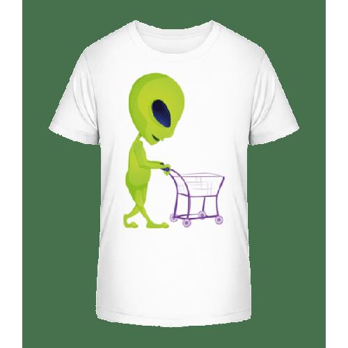 Alien Mit Einkaufswagen - Kinder Premium Bio T-Shirt