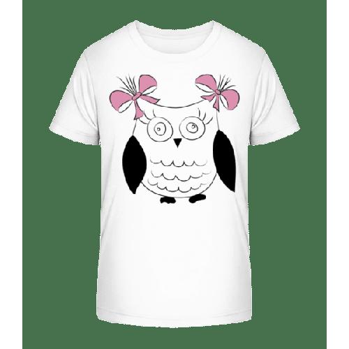 Mädchen Eule - Kinder Premium Bio T-Shirt