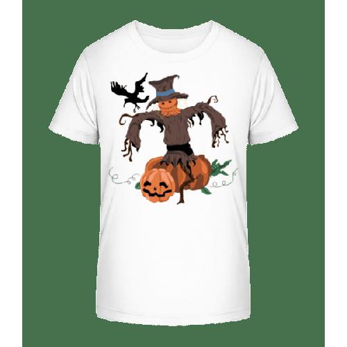 Kürbis Vogelscheuche - Kinder Premium Bio T-Shirt