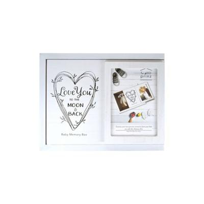 New View White Baby Keepsake Box- Love You to the Moon & Back