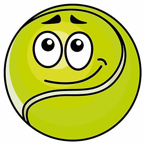 Wandtattoo Tennisball mit Gesicht Wandtattoos gelb