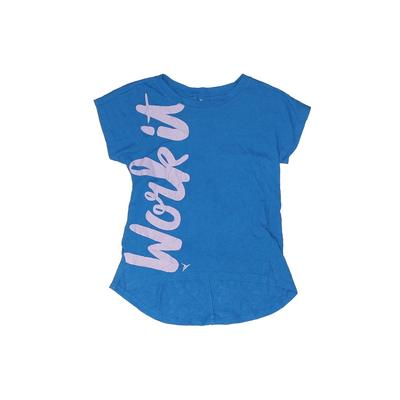 Active by Old Navy Active T-Shirt: Blue Sporting & Activewear - Size X-Small