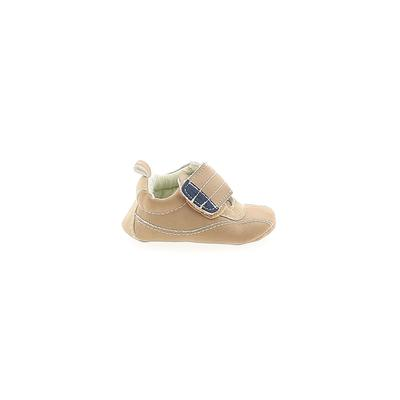 Carter's Booties: Tan Solid Shoes - Size 0-3 Month