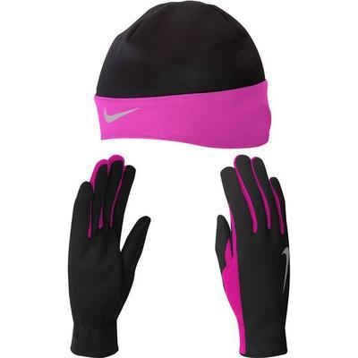 NIKE Damen 9385/2 Wmns Running Dri-Fit Beanie/, Größe XS in Schwarz/Pink