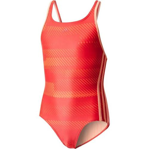 ADIDAS Mädchen Badeanzug OCC Swim, Größe 128 in REDNIT/SUNGLO