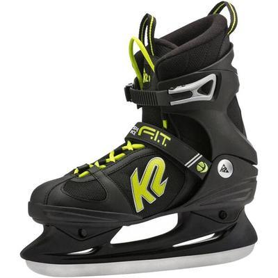 K2 Herren Schlittschuhe F.I.T Speed Ice, Größe 42 ½ in Schwarz/Grün