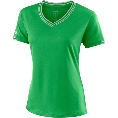 """""""WILSON Damen Tennisshirt \""""Team V-Neck\"""""""" Kurzarm"""""""", Größe XS in ANDEAN TOUCAN"""""""