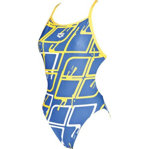 ARENA Damen Wettkampf Badeanzug Blare Lining, Größe 36 in ROYAL-LILY YELLOW