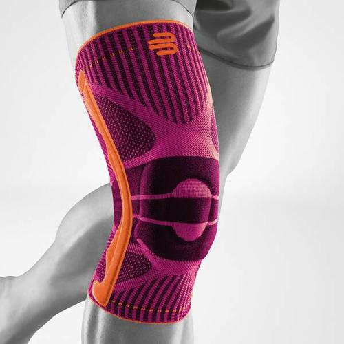 BAUERFEIND Kniebandage, Bandage Knie Sports Knee Support, Größe XS in Pink