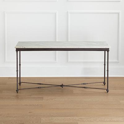 Tivoli Console Table - Carrara Marble - Frontgate