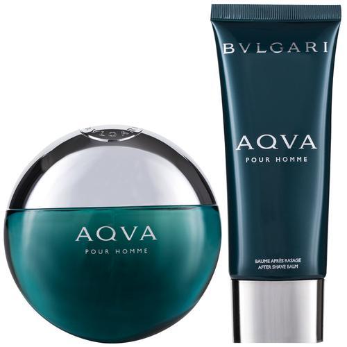 Bvlgari Aqva Pour Homme EDT Geschenkset EDT 100 ml + 100 ml Aftershave Balm + Tasche