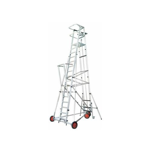 F. Saalleiter ESCA3000 Podesthöhe 4m kann vom Podest aus bewegt werden